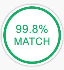 Black Mirror Sticker 99.8% Sticker