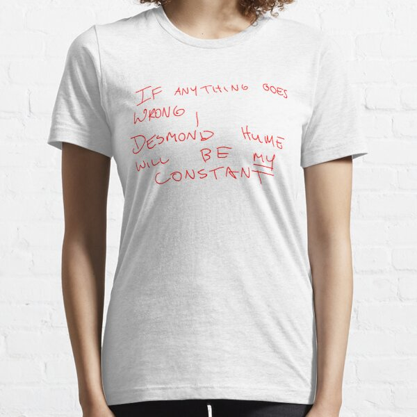 Desmond Hume Constant (Faraday's notebook) - Lost Essential T-Shirt
