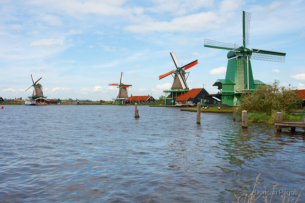 Four Windmills by Duncan Payne