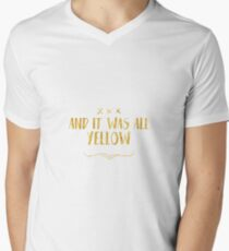 Yellow Coldplay Lyrics Men's V-Neck T-Shirt