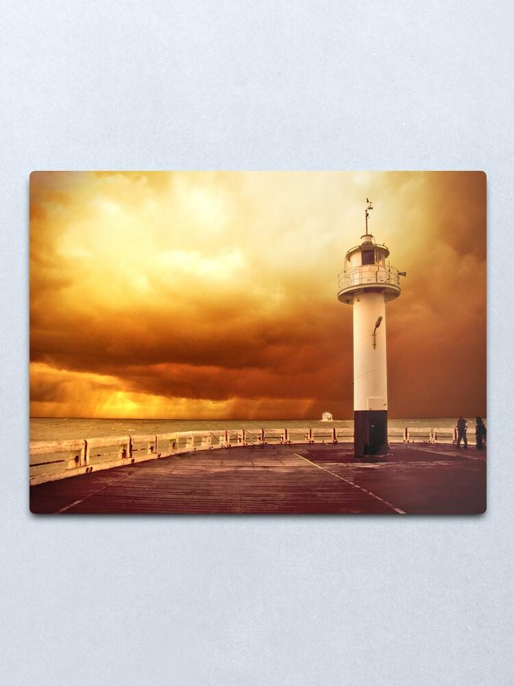 Alternate view of Pier Oostende Metal Print