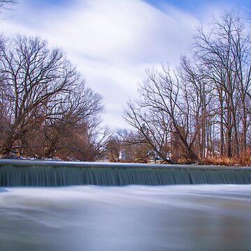 Long Exposure Waterfall in Batavia, New York by travispowers