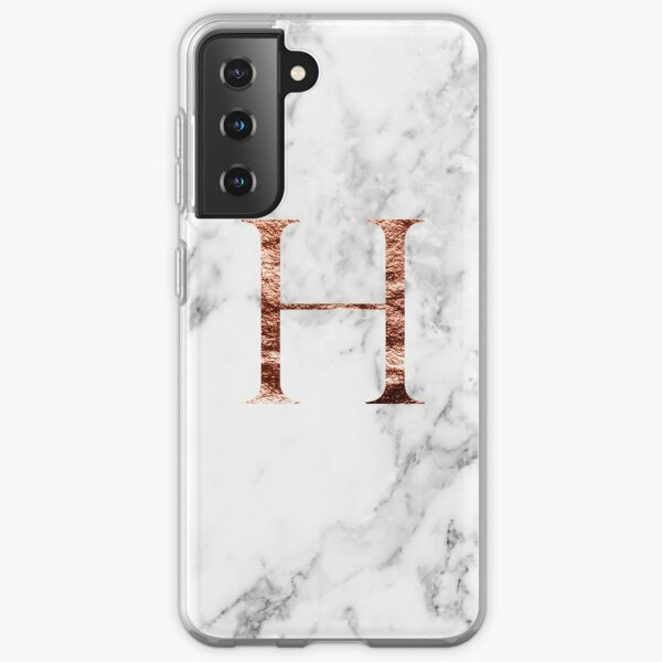 Monogram rose marble H Samsung Galaxy Soft Case