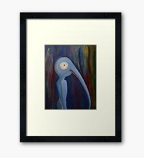 Different low brow surrealist pop painting creature monster Framed Print
