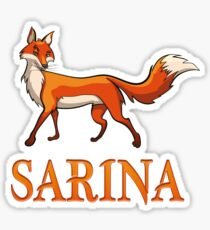 Sarina Fox Sticker