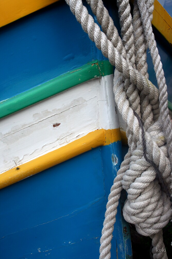 rope on a boat  by keki