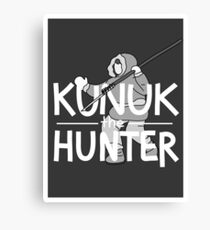 Kunuk The Hunter - Documentary Now! (Dark, with Border) Canvas Print