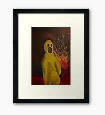 Awp Fire! panicked creature monster low brow painting Framed Print