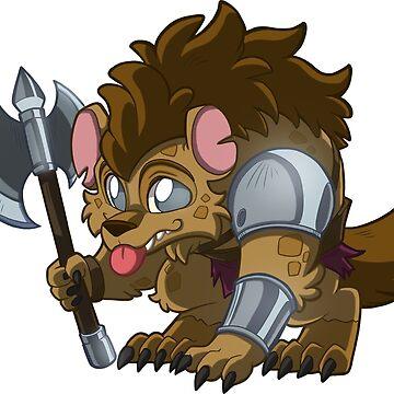 Little Warrior Gnoll - Cute D&D Adventures by kickgirl