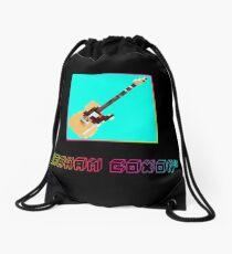 Graham Coxon signature guitar pixel art Drawstring Bag