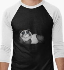 Panda Laying down Fluffy mode blue Eyes Men's Baseball ¾ T-Shirt