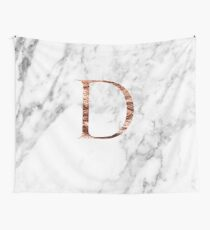 Monogram rose marble D Wall Tapestry
