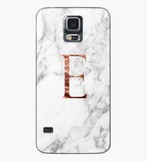 Monogram rose marble E Case/Skin for Samsung Galaxy