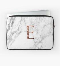 Monogram rose marble E Laptop Sleeve