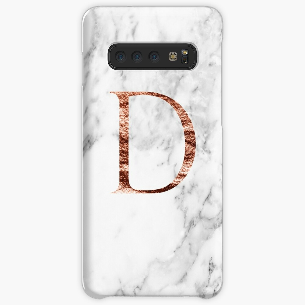 Monogram rose marble D Case & Skin for Samsung Galaxy