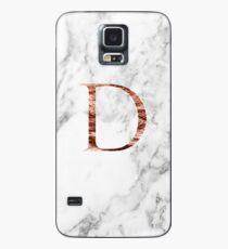 Monogram rose marble D Case/Skin for Samsung Galaxy