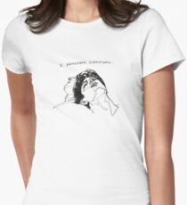 """""""I Remember Everything"""" Line Art Women's Fitted T-Shirt"""
