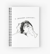 """I Remember Everything"" Line Art Spiral Notebook"