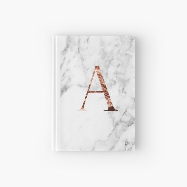 Monogram rose marble A Hardcover Journal
