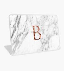 Monogram rose marble B Laptop Skin