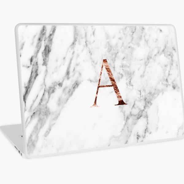 Monogram rose marble A Laptop Skin