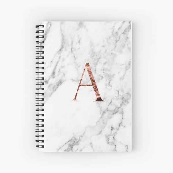 Monogram rose marble A Spiral Notebook