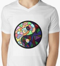 Yin Yang Sticker Men's V-Neck T-Shirt