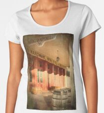Western Town Store Front Women's Premium T-Shirt