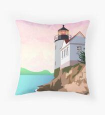 Bass Harbor Lighthouse Throw Pillow