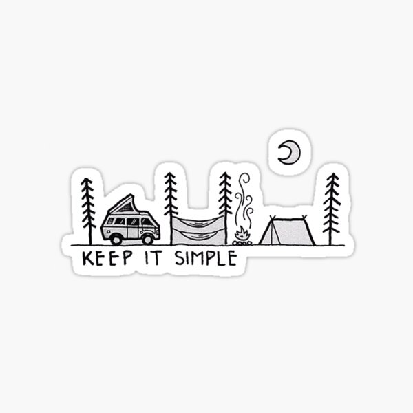 keep it simple Sticker