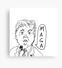 The Donald Trump (Black & White) Canvas Print