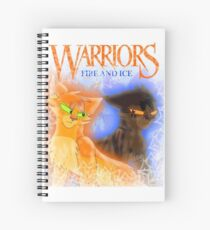 Fire and Ice - Fireheart and Tigerclaw Spiral Notebook
