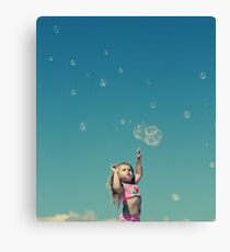 """I'm gonna catch every single bubble!"" Canvas Print"
