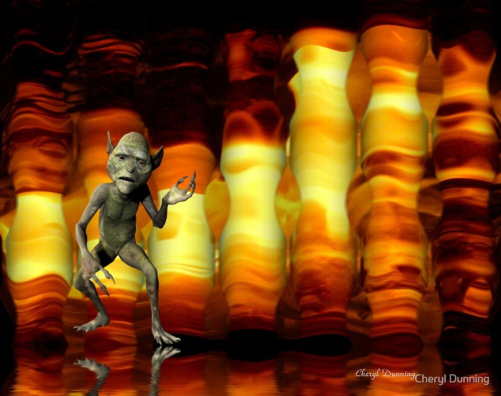 fire goblin... by Cheryl Dunning