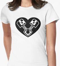 Piston Coeur T-shirt col V femme