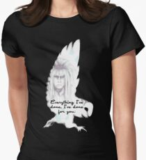 Labyrinth Everything I've Done Owl Women's Fitted T-Shirt