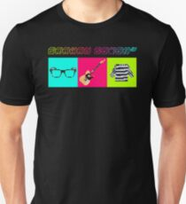 Graham Coxon's signature look pixel art with big text Unisex T-Shirt