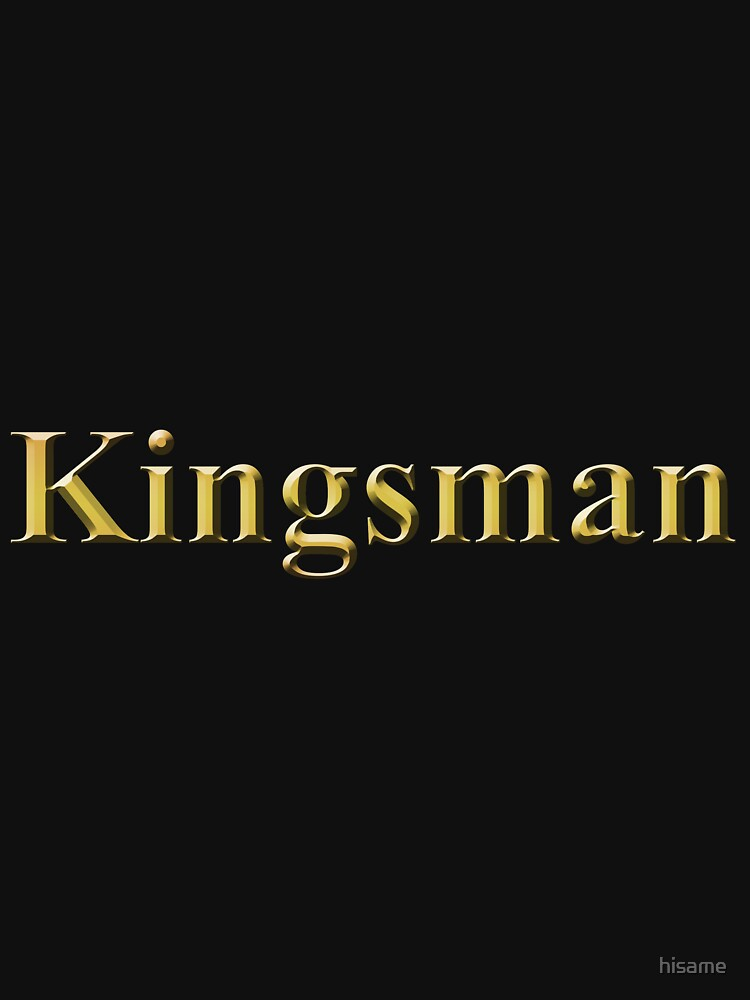 Gold Kingsman Title Plain by hisame