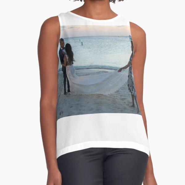 #Wedding #beach #water #sea #sand #people #travel #fun #romance #summer #enjoyment #horizontal #colorimage #watersedge #women #leisureactivity #recreationalpursuit #vacations #traveldestinations Sleeveless Top