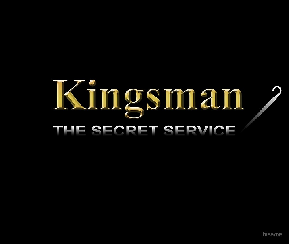 Kingsman Title Gold Umbrella Right by hisame