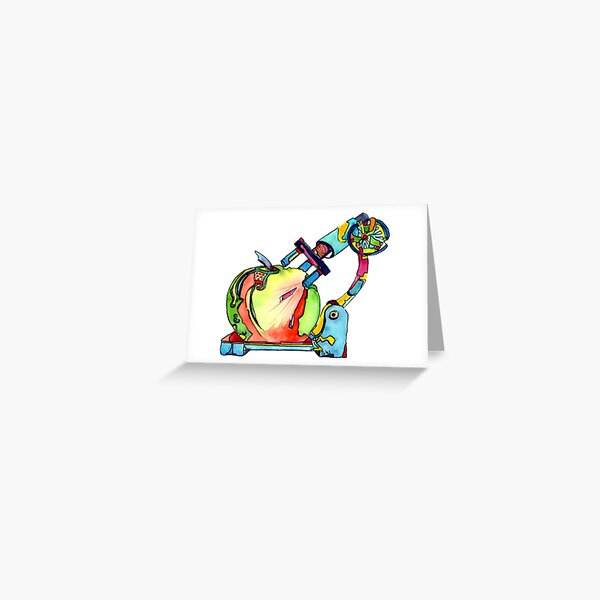 Naturopathy Under The Microscope Greeting Card