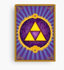 Arabesque Triforce Canvas Print
