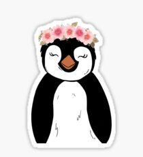Floral Penguin Sticker