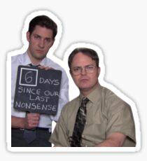 Pegatina 6 días desde nuestra última tontería: la oficina
