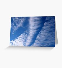 Hole-Punch Clouds Greeting Card