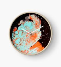 Moonlit Coral Clock