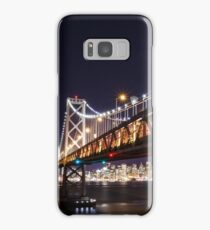 SF Bay Bridge at Night Samsung Galaxy Case/Skin