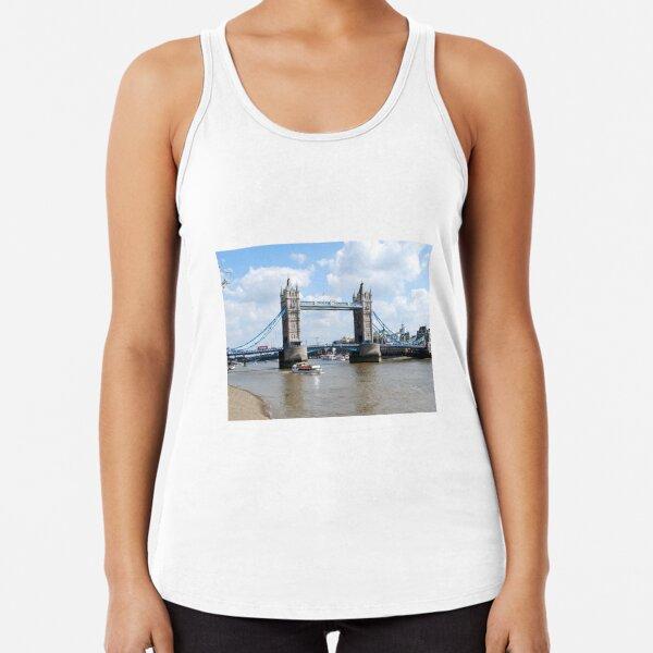 Tower Bridge London landmark river thames Racerback Tank Top