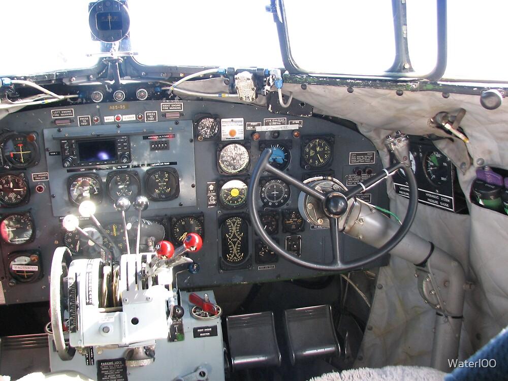 Cockpit C47 (DC3 ) Dakota RAAF by Waterl00