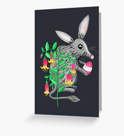 Australian Easter Bilby Egg Hunt - Grey Greeting Card